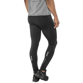 Salming Logo 2.0 - Pantalones largos running Hombre - blanco/negro